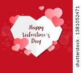 valentines day vector design... | Shutterstock .eps vector #1381052471