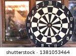 close up vintage dart board... | Shutterstock . vector #1381053464