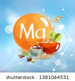 magnesium. natural organic... | Shutterstock .eps vector #1381064531
