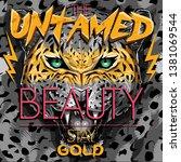untamed beauty leopard... | Shutterstock .eps vector #1381069544