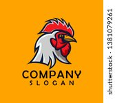 chicken abstract design logo... | Shutterstock .eps vector #1381079261