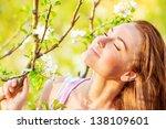 closeup portrait of beautiful... | Shutterstock . vector #138109601