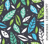 forest leaf hand drawn colorful ... | Shutterstock .eps vector #1381104797