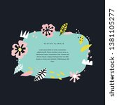 floral hand drawn border... | Shutterstock .eps vector #1381105277