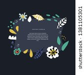 floral hand drawn frame... | Shutterstock .eps vector #1381105301