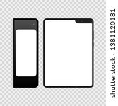 vector realistic template.... | Shutterstock .eps vector #1381120181