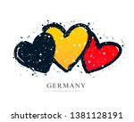 german flag in the form of... | Shutterstock .eps vector #1381128191