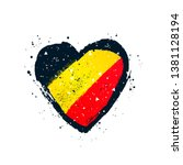 german flag in the form of a... | Shutterstock .eps vector #1381128194
