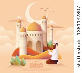 ramadan kareem prayer and... | Shutterstock .eps vector #1381142807