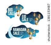 ramadan kareem sale banners eid | Shutterstock .eps vector #1381153487