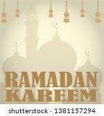 ramadan kareem design vector... | Shutterstock .eps vector #1381157294