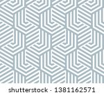 abstract geometric pattern with ... | Shutterstock . vector #1381162571