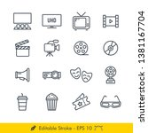 cinema  movies  related icons   ... | Shutterstock .eps vector #1381167704