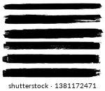 grunge paint roller . vector... | Shutterstock .eps vector #1381172471