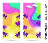 sets of banner template for... | Shutterstock .eps vector #1381188524
