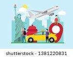 travel to new york creative... | Shutterstock .eps vector #1381220831