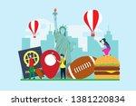 travel to new york creative... | Shutterstock .eps vector #1381220834