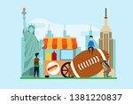 travel to new york creative... | Shutterstock .eps vector #1381220837