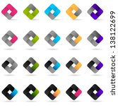 loop icons   set   isolated on... | Shutterstock .eps vector #138122699