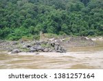 view of the river side   Shutterstock . vector #1381257164