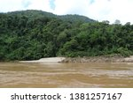 view of the river side   Shutterstock . vector #1381257167