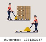 flat design vector character of ... | Shutterstock .eps vector #1381263167
