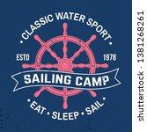 yacht club badge. vector... | Shutterstock .eps vector #1381268261