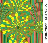 seamless doodle pattern  vector ... | Shutterstock .eps vector #1381269227