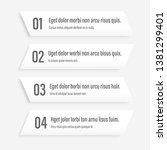 white infographics banners. a... | Shutterstock .eps vector #1381299401