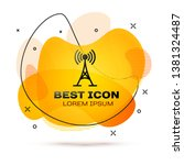 black antenna icon isolated on... | Shutterstock .eps vector #1381324487