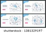 line illustrations of success... | Shutterstock .eps vector #1381329197