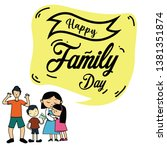 happy family day vector... | Shutterstock .eps vector #1381351874