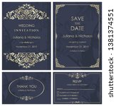 wedding invitation  with rsvp ... | Shutterstock .eps vector #1381374551