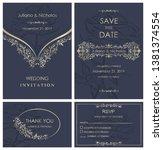 wedding invitation  with rsvp ... | Shutterstock .eps vector #1381374554
