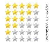 5 star vector rating with full  ... | Shutterstock .eps vector #1381374734