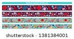 marine design nautical border... | Shutterstock .eps vector #1381384001