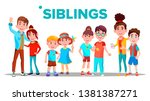 siblings  cheerful brothers and ...   Shutterstock . vector #1381387271