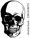 vector human skull isolated on... | Shutterstock .eps vector #1381428071