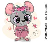 greeting card cute cartoon... | Shutterstock .eps vector #1381433801