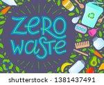 zero waste concept.vector...   Shutterstock .eps vector #1381437491