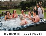 small group of female adults... | Shutterstock . vector #1381441364