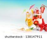 summer drinks on the beach | Shutterstock . vector #138147911