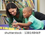 elementary pupil counting with... | Shutterstock . vector #138148469