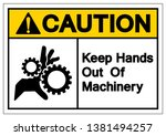 caution keep hands out of... | Shutterstock .eps vector #1381494257