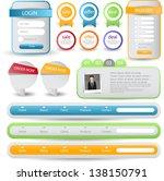 web designing element | Shutterstock .eps vector #138150791