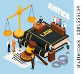 law justice jury trial legal... | Shutterstock .eps vector #1381555154