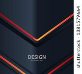 black background light with... | Shutterstock .eps vector #1381579664