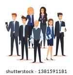 corporate businesswomen and... | Shutterstock .eps vector #1381591181