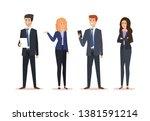 set businesswomen and... | Shutterstock .eps vector #1381591214
