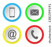 collection of contact icon....   Shutterstock .eps vector #1381599191